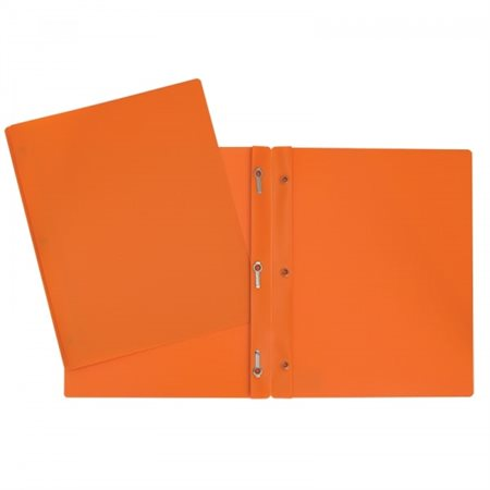 Duo tangs plastifiés (orange)